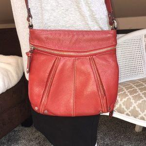 Tignanello Red Crossbody Shoulder Bag